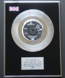THE BEATLES - Can't Buy Me Love PLATINUM single presentation DISC